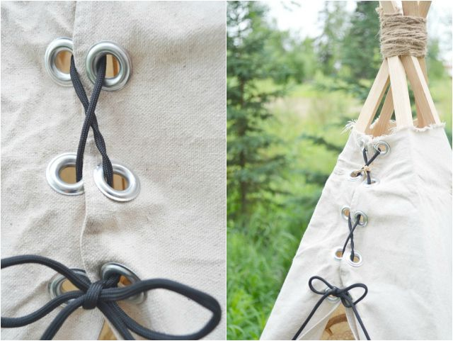 You never know if you might need a teepee  :) DIY- No Sew Teepee