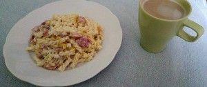 Jednoduché smetanové těstoviny