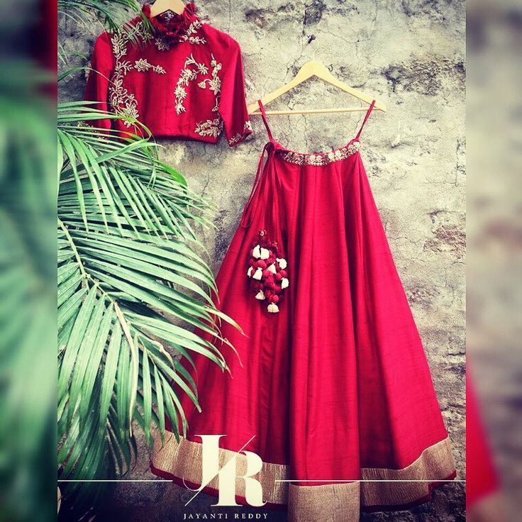 Jayanti absolute favorite from this collection! A fiery red lehenga with an embellished ruffle collared crop top! Contact on +917330687770 or email on jayantireddyofficial@gmail.com for enquiries and orders. 15 July 2017