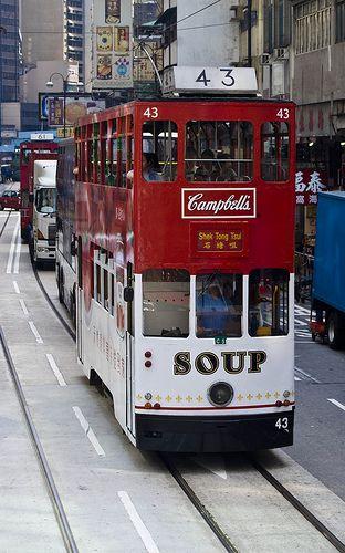 Campbells Soup Tram, Hong Kong