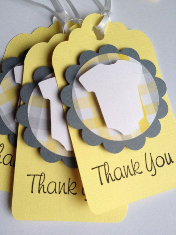 Baby Thank You Favor Tags 12 Baby Shower Favor Tags by PaperStrip, $12.00