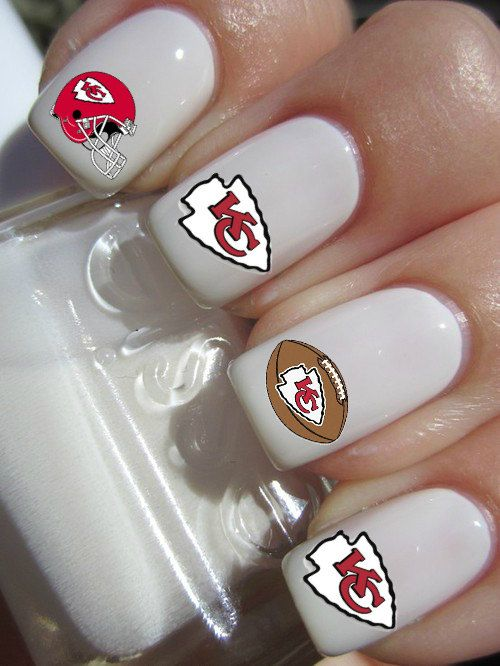 Kansas City Chiefs Football Nail Decals by PineGalaxy on Etsy, $4.50 ...