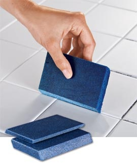 """Groutinator """"erases"""" stubborn grout stains without chemicals."""