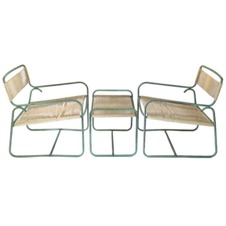 Pair Of Walter Lamb Bronze Lounge Chairs With Ottoman For Brown Jordan