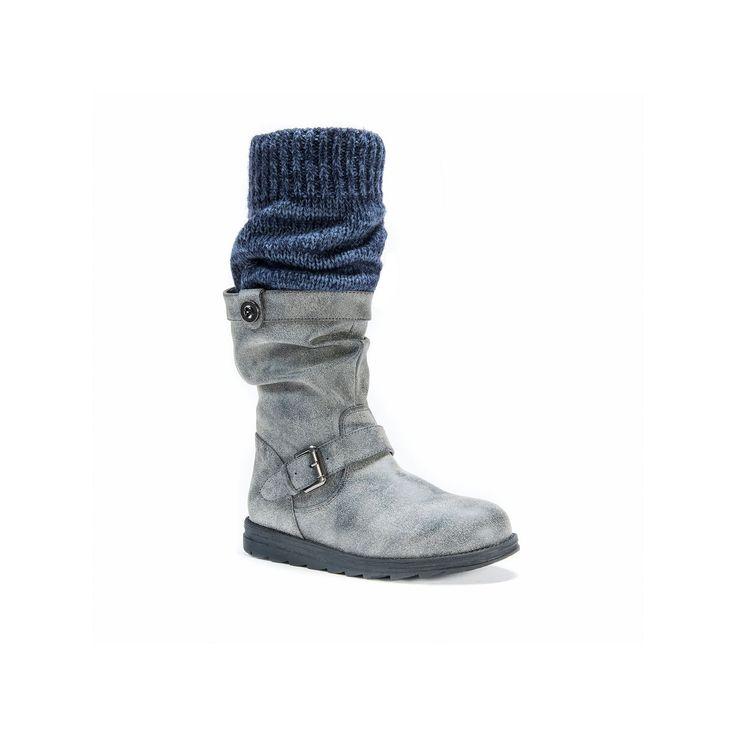 MUK LUKS Sky Women's Riding Boots, Teens, Size: 10, Grey