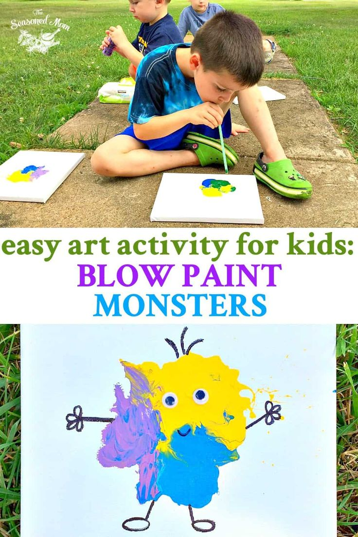 These Blow Paint Monsters are an Easy Art Activity for Kids! A fun art idea for …