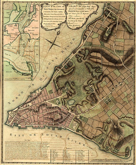 City Of New York Manhattan Its Environs To Greenwich On The