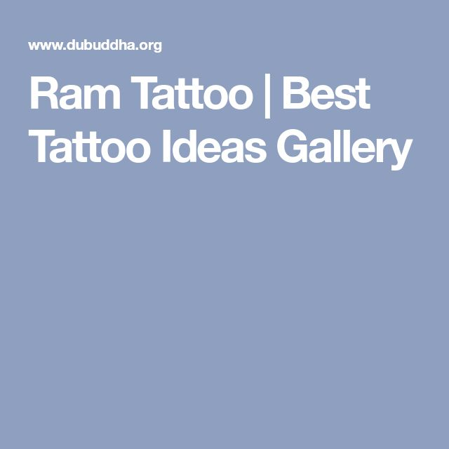 Ram Tattoo | Best Tattoo Ideas Gallery