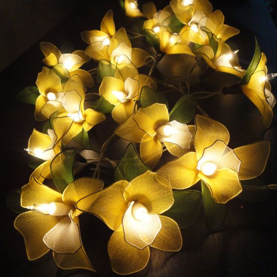 Yellow Orchid Fairy String Lights for Baby Nursery. OMG i want to make this! it could be all fairy-ish in her room!