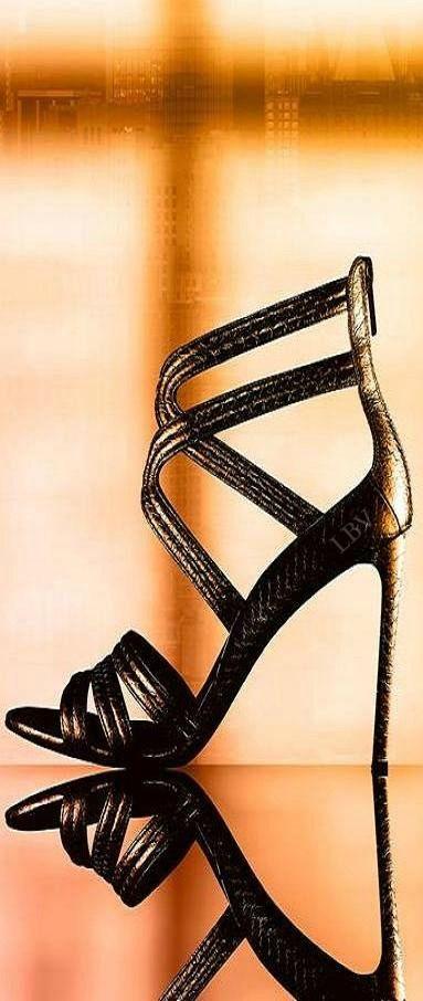 Michael Kors ~ Leather Sandal Stiletto, Black