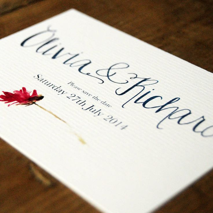 mini book wedding invitations uk%0A Hand Lettered Save The Date Card Or Magnet