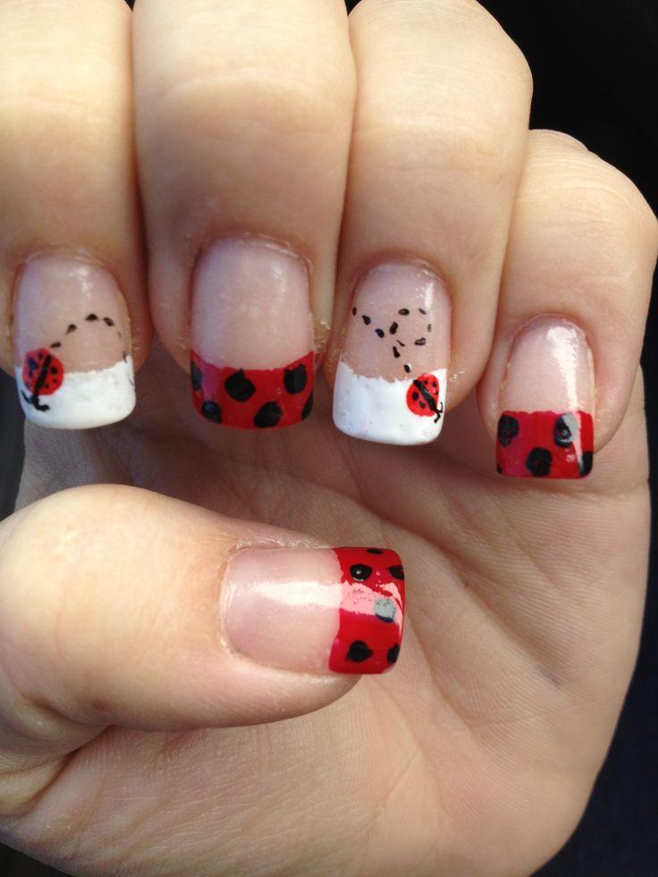 Ladybug nails. - Best 25+ DIY Ladybug Nails Ideas On Pinterest Easy Lady Finger