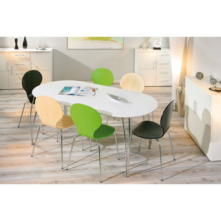 Miliboo - Table à manger extensible design blanche OXANE,   je ne sais pas...