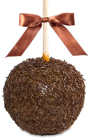 Cocoa & White Sprinkle Caramel Apple