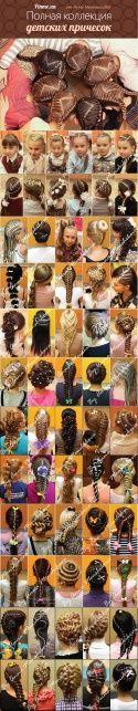 Детские прически для девочек → Ажурное плетение кос (огромная коллекция)