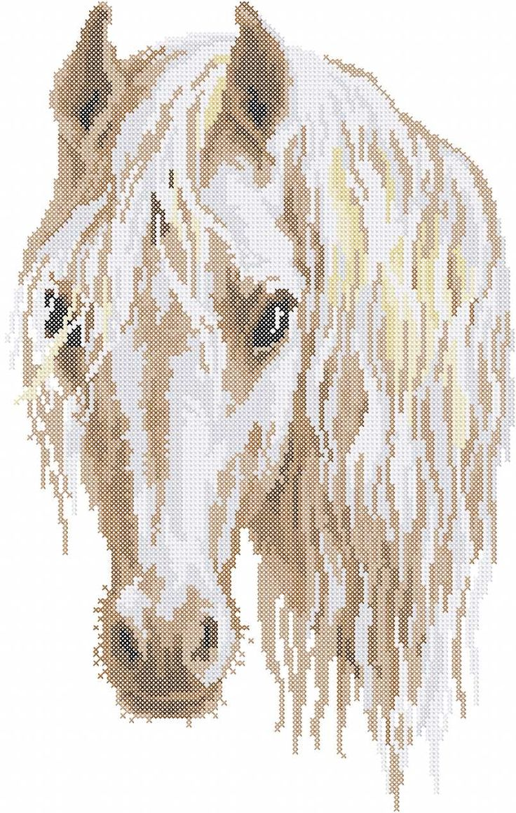 Horse cross stitch free embroidery design 10 - Cross stitch machine embrodiery - Machine embroidery forum