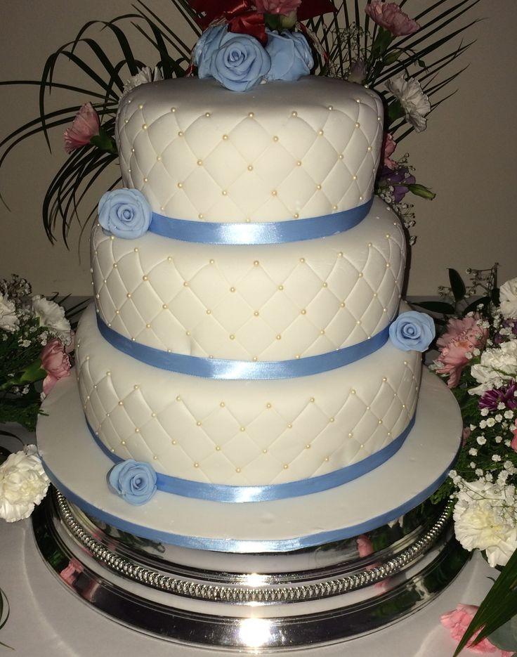 First 3 tier #wedding #cake #red #velvet #cream #cheese #frosting
