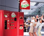 This Let's Pizza vending machine starts with flour and water to bake you a pizza in just 2.5 minutes.