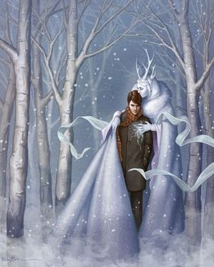 The Snow Queen and Kay by Angela Barrett