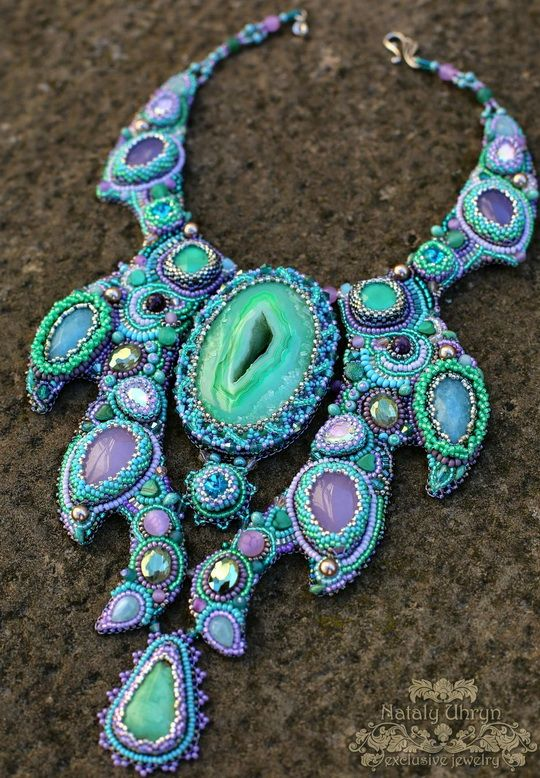 Beautiful embroiderd jewelry by Nataly Uhrin (Part 6) | Beads Magic