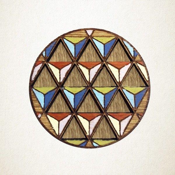 Shonah Geometric Brooch - Hand Painted   Krinkle - Homewares & Gifts