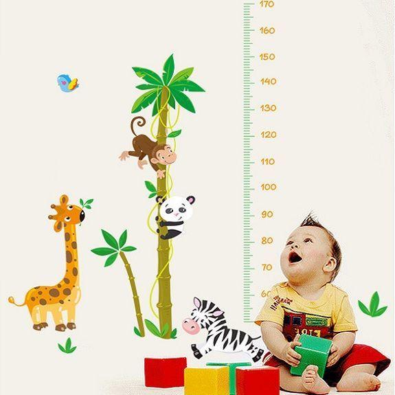 Muursticker lieve bosdiertjes<br /> Deze leuke dieren staan mooi op de kinderkamer of babykamer..