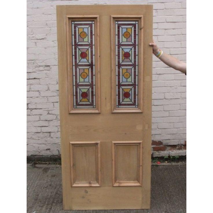 SD017 - Victorian Edwardian Original 4 Panelled Door Fuller