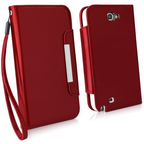 BoxWave Patent Leather Clutch Samsung Galaxy Note 2 Case  Patent Leather Case Design with Card Slots and Premium Interior Design for Samsung Galaxy Note 2  Samsung Galaxy Note 2 Covers  Samsung Galaxy Note 2 Cases (Ruby)
