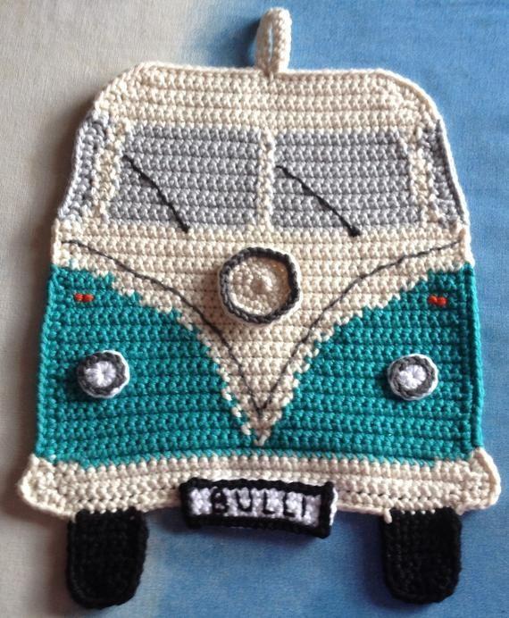 Pot Flap Vw Bulli Tığ Işleri Crochet Knit Crochet Und Knitting
