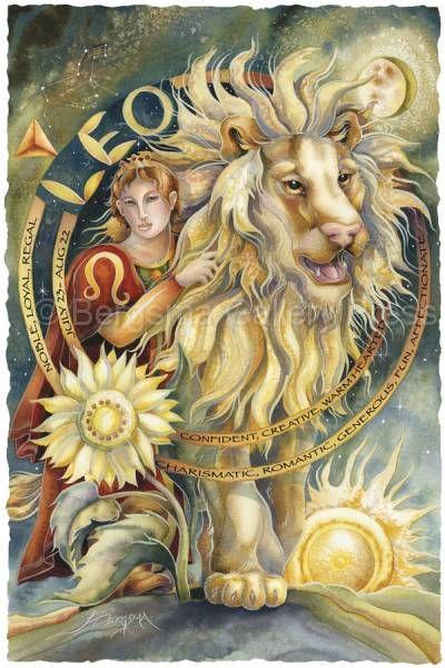 Bergsma Gallery Press::Paintings::Art With Symbols::Zodiac::Leo - Prints