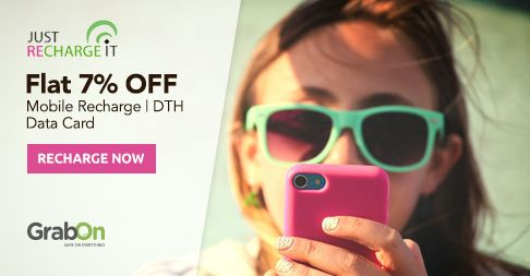 Now You Can Save On Daily Recharges & Bill Payments. #JustRechargeIt Offers Flat 7% OFF. Grab Now - http://www.grabon.in/justrechargeit-coupons/ #SaveOnGrabOn