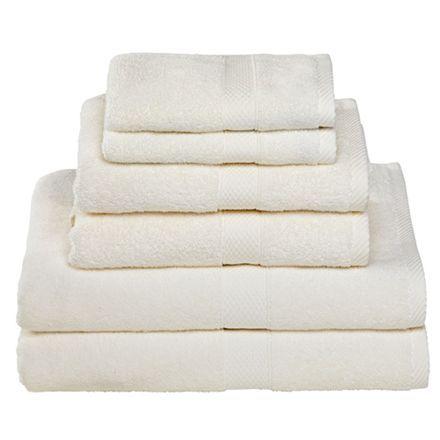 Egeria håndklæder - Diamant, beige 6 håndklæder i 3 forskellige størrelser