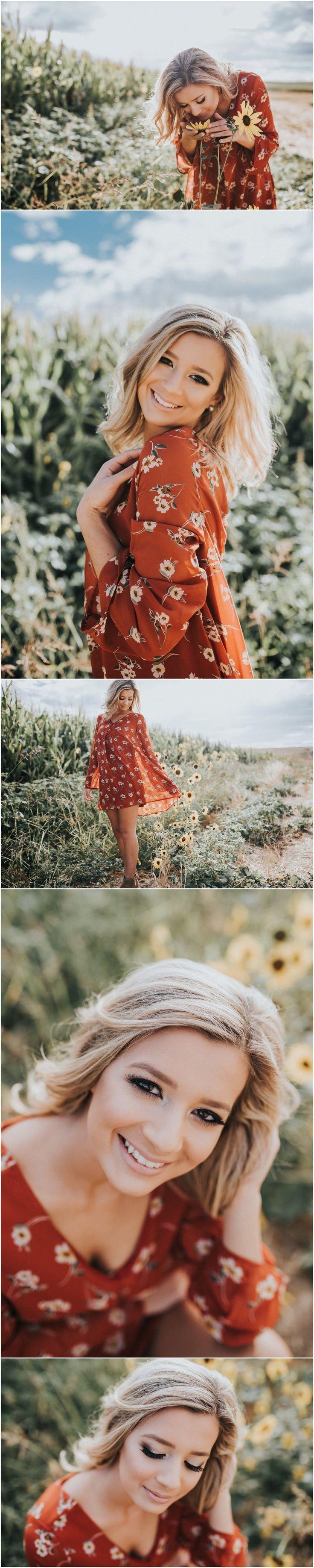 Sunflower field  // floral dress // Makayla Madden Photography