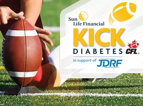 Sun Life and the Canadian Football League (CFL) have partnered for an exciting new contest, the Sun Life Financial Kick Diabetes program, and they have chosen JDRF as their charity of choice!