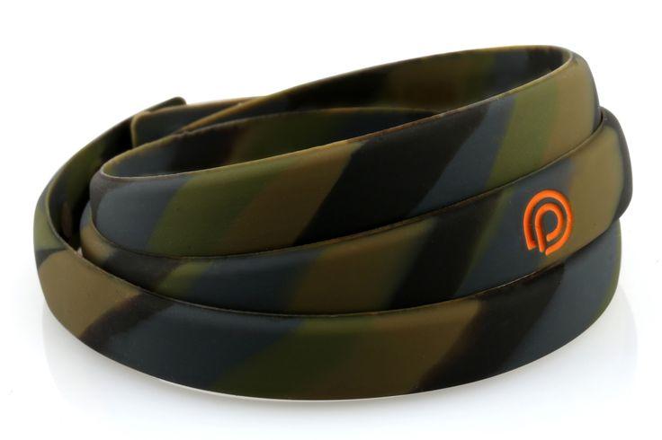 CAMOUFLAGE, Triple-Wrap, Silicone Bracelet w/ Magnet-Clasp