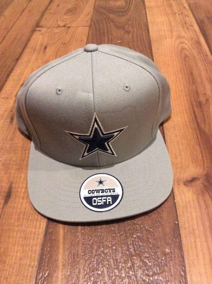 Authentic Dallas Cowboys Football NFL Gray Navy Snapback Flat Bill Hat Cap #DallasCowboysMerchandise #DallasCowboys