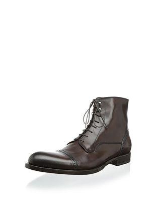 66% OFF Antonio Maurizi Men's Perforated Detail Captoe Lace Boot (T.moro)