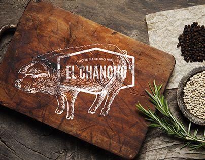 Branding developed for restaurant bbq ribs