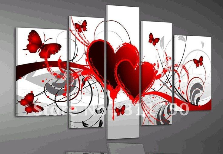 Google Image Result for http://i01.i.aliimg.com/wsphoto/v0/561574341/hand-painted-oil-wall-art-Red-flower-love-butterfly-home-decoration-abstract-Landscape-oil-painting-on.jpg