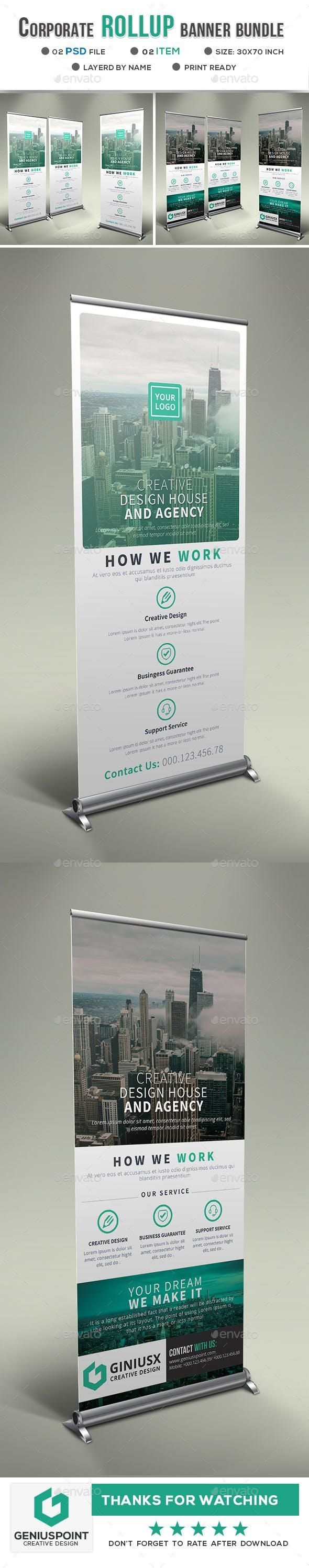 Corporate Roll Up Banner Bundle for $9 #advertisement #graphic #marketing #Signa...