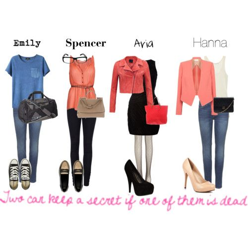 Pretty Little Liars Outfits // LITTERALLY my sister's and I different styles.