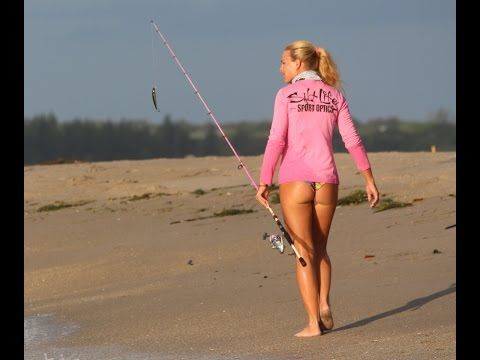 I will teach you how to surf fish catch massive redfish for Topless girls fishing