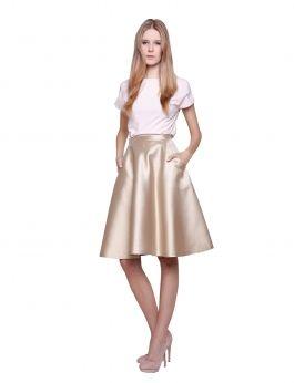 Spódnica złota z jedwabiu i bawełny / golden silk skirt