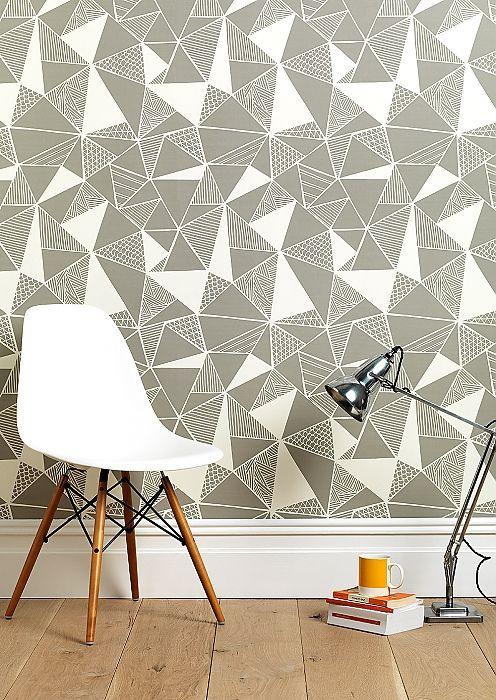 Tress in Grey Wallpaper | Sian Elin, Stand G26, Hall T1 Tent London 2014 www.sianelin.com