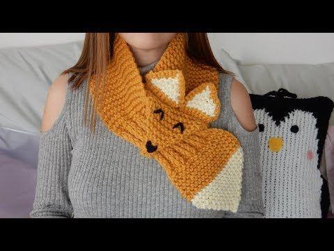 Tricotin - Echarpe renard I Loom Knitting - YouTube   tricotin ... d67ec21512e