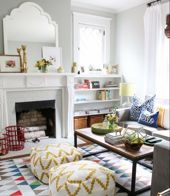 1001 designs magiques pour cr er un salon cocooning for Deco sejour blanc