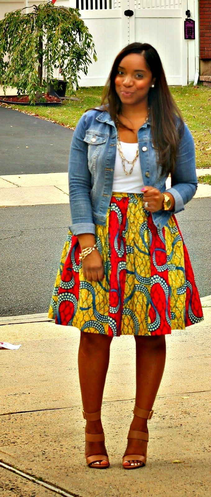 Style & Poise: Ankara Print Midi Skirt