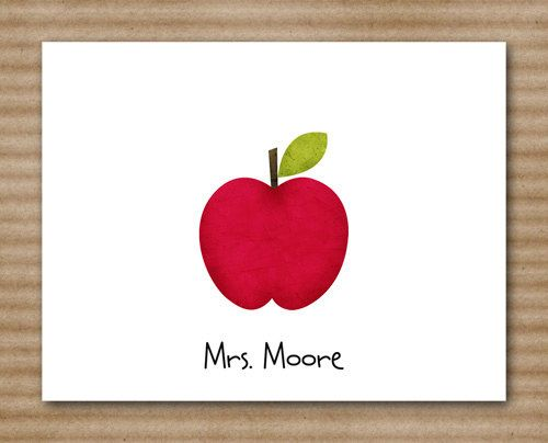 Apple Teacher Note Cards / Notecards / by PaperHouseDesigns, $12.00