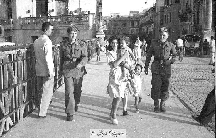 Puente de los Peligros, año 1945. Murcia © Luis Argemí