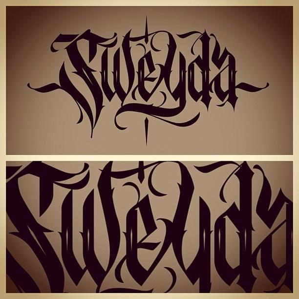 Custom lettering hand vector illustration